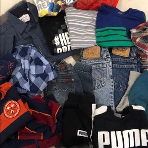 4t lot. Hoodies, jeans, shirts and button ups.